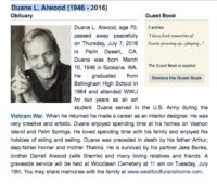 Duane Alwood obit